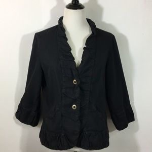XCVI Jacket size XL distressed cotton denim